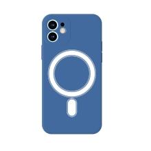 Kryt pro Apple iPhone 11 - MagSafe magnety - silikonový - s kroužkem - modrý