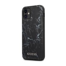 Kryt GUESS Marble pro Apple iPhone 12 mini - plastový / gumový - mramorový - černý