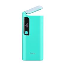 Externí baterie / power bank HOCO B27 - 15000 mAh - 2x USB - svítilna - modrá / zelená