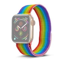 Řemínek pro Apple Watch 40mm Series 4 / 5 / 6 / SE / 38mm 1 / 2 / 3 - nerezový - duhový