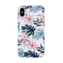 Kryt pro Apple iPhone X / Xs - plastový - květy a listy