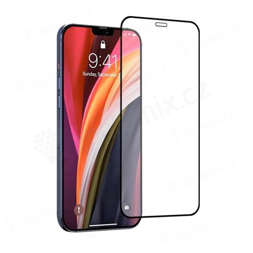 Tvrzené sklo (Tempered Glass) RURIHAI pro Apple iPhone 12 Pro Max - černý rámeček - 2,5D - 0,26mm
