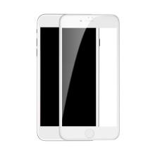 Tvrzené sklo (Tempered Glass) BASEUS 5D pro Apple iPhone 7 / 8 - bílý rámeček - 3D hrana - 0,33mm