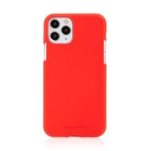 Kryt MERCURY Soft Feeling pro Apple iPhone 11 Pro Max - silikonový - červený