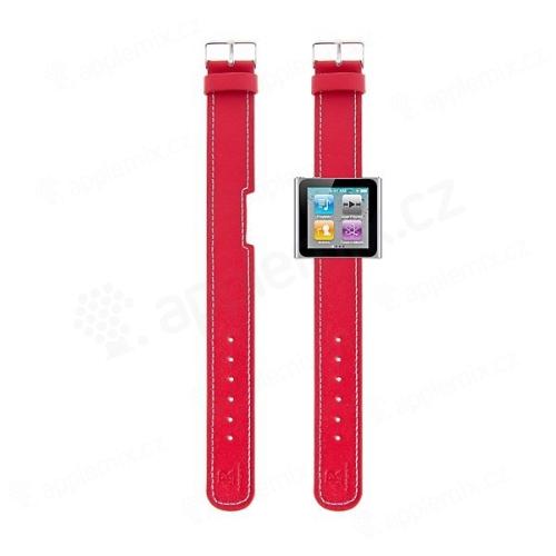 Hodinkový řemínek pro Apple iPod nano 6 - červený