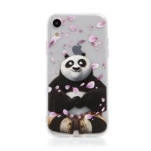 Kryt Kung Fu Panda pro Apple iPhone Xr - gumový - Po a okvětní lístky
