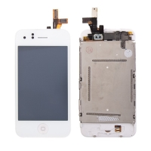 LCD panel + dotykové sklo (touch screen digitizér) pro Apple iPhone 3GS - osazený bílý - kvalita A