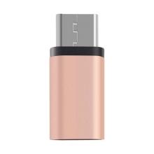Redukce / adaptér Baseus micro USB / USB-C - šedá