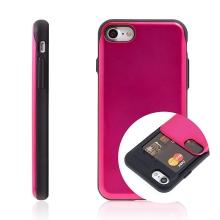 Kryt MERCURY Sky Slide pro Apple iPhone 7 / 8 / SE (2020) - prostor pro platební karty - plastový / gumový - růžový / černý