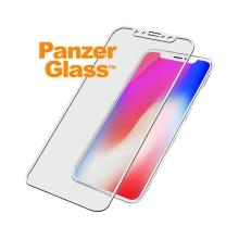 Tvrzené sklo (Tempered Glass) PANZERGLASS pro Apple iPhone X / Xs - 3D hrana - bílé - 0,4mm