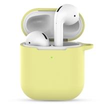 Pouzdro / obal pro Apple AirPods 2019 s bezdrátovým pouzdrem - silikonové - žluté
