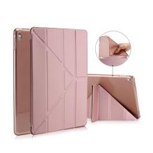 Pouzdro pro Apple iPad Pro 9,7 - variabilní stojánek + funkce chytrého uspání - gumové rose gold