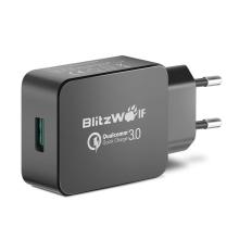 Nabíječka / EU napájecí adaptér Blitzwolf BW-S5 - 1x USB - 18W QuickCharge 3.0 - černý