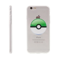 Kryt pro Apple iPhone 6 / 6S gumový - Pokemon Go / Pokeball - zelený