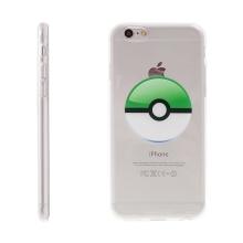 Kryt pro Apple iPhone 6 / 6S gumový - Pokemon Go / Pokeball - zelený