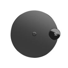 Bezdrátová nabíječka / podložka Qi BASEUS - LCD displej - rychlé nabíjení 9V - černá