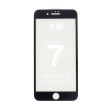 Tvrzené sklo (Tempered Glass) pro Apple iPhone 7 / 8 / SE (2020) - 3D - černý rámeček - čiré - 0,3mm