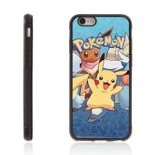 Kryt pro Apple iPhone 6 / 6S - kovový povrch - gumový - Pokemon Go / Pikachu