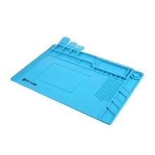 Silikonová servisní podložka - uzavíratelné přihrádky + magnetické podložky - tepelně izolační - 45 x 30 cm - modrá
