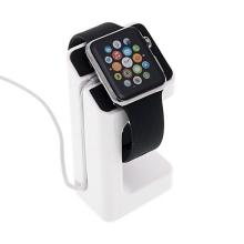 Plastový nabíjecí stojánek pro Apple Watch 38mm / 42mm Series 1 / 2 / 3 - bílý