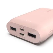 Externí baterie (Power Bank) BELKIN - 10000 mAh - USB-C + USB-A - Rose Gold růžová