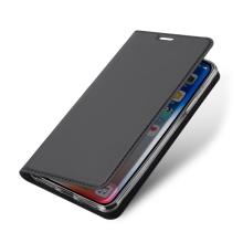Pouzdro DUX DUCIS pro Apple iPhone Xs Max - stojánek + prostor pro platební kartu - šedé