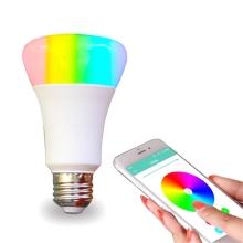 Žárovka smart LED / chytrá žárovka - WiFi - ovládání přes aplikaci - závit E27 - barevná
