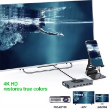 Rozbočovač / hub / adaptér 15v1 pro Apple MacBook Air / Pro - USB-C na USB-C + HDMI + Qi nabíječka