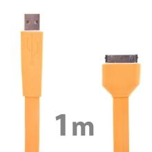 Plochý synchronizační a nabíjecí USB kabel pro Apple iPhone / iPad / iPod