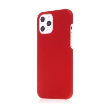 Kryt pro Apple iPhone 12 / 12 Pro - plastový - měkčený povrch - červený