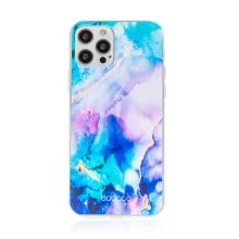Kryt BABACO pro Apple iPhone 12 / 12 Pro - gumový - mlhovina - růžový / modrý