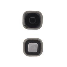 Tlačítko Home Button se silikonovou podložkou pro Apple iPod touch 5.gen. - černé - kvalita A+