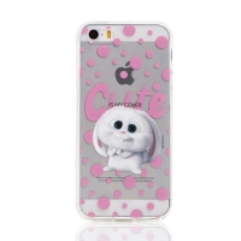 Kryt Tajný život mazlíčků pro Apple iPhone 5 / 5S / SE - gumový - průhledný / králík Snížek