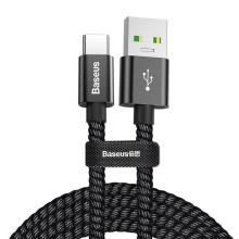 Synchronizační a nabíjecí kabel BASEUS USB-C - USB 3.0 - tkanička - 1m - černý