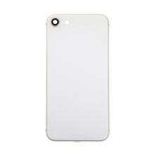 Zadní kryt / sklo pro Apple iPhone 8 - náhradní - bez loga - Silver stříbrný