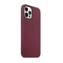 Kryt pro Apple iPhone 12 / 12 Pro - Magsafe - silikonový - vínový