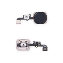 Obvod tlačítka Home Button + kovový rámeček + tlačítko Home Button pro Apple iPhone 6 / 6 Plus - černé - kvalita A+