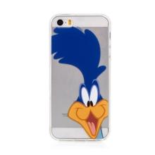 Kryt pták Uličník pro Apple iPhone 5 / 5S / SE - gumový - průhledný