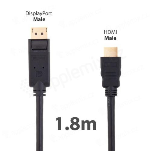 Redukce HDMI - DisplayPort - délka 1,8m - černá