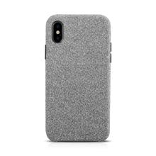 Kryt XOOMZ pro Apple iPhone X - plastový / látkový - světle šedý