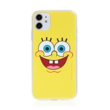 Kryt Sponge Bob pro Apple iPhone 11 - gumový - vysmátý Sponge Bob