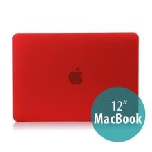Tenký plastový obal / kryt pro Apple MacBook 12 Retina (rok 2015) - matný - červený