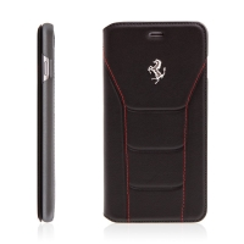 Pouzdro Ferrari 488 pro Apple iPhone 7 Plus / 8 Plus kožené - prostor na doklady - černé