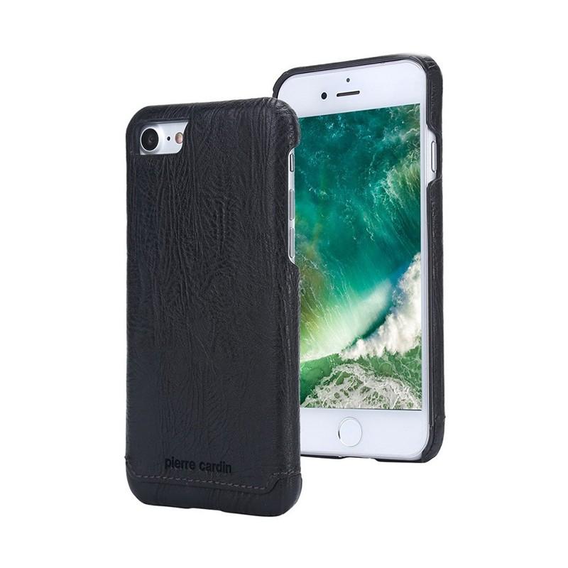 Kryt Pierre Cardin pro Apple iPhone 7 / 8 plastový / kožený povrch - černý