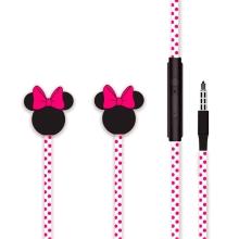 Sluchátka MINNIE - 3,5mm jack - špunty - hlavy Minnie s mašlí - růžová