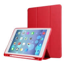 """Pouzdro / kryt pro Apple iPad Pro 12,9"""" / 12,9"""" (2017) - prostor pro Apple Pencil - umělá kůže - červené"""
