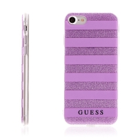 Kryt GUESS Ethnic Chic Stripes 3D pro Apple iPhone 7 / 8 gumový - fialový