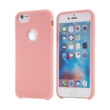 Kryt pro Apple iPhone 6 / 6S - gumový - příjemný na dotek - výřez pro logo - růžový