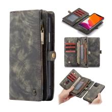 Pouzdro CASEME pro Apple iPhone 11 Pro Max - peněženka + odnímatelný kryt na telefon - prostor na doklady - šedé
