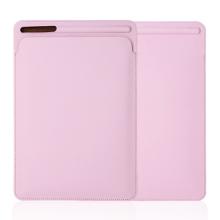 Pouzdro / obal pro Apple iPad Pro 10,5 / Pro 9,7 a další modely iPad - kapsa na Apple Pencil / tužku - umělá kůže - růžové